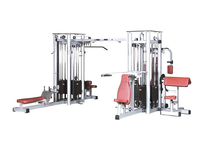 8 Station Multi Gym Equipments / Commercial Grade Multifunction Gym Machine